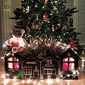 Подарки к праздникам handmade. Livemaster - original item Planters Christmas in HappyTown. Handmade.