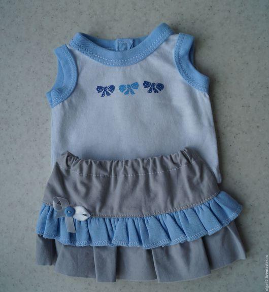 Комплект одежды для беби бон состоящий из маки и юбочки.