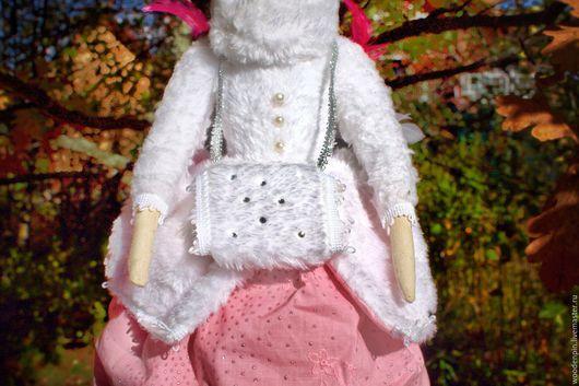 """Куклы Тильды ручной работы. Ярмарка Мастеров - ручная работа. Купить Скидка!!!Тильда Фея Зимнего Леса """"Фрея"""". Handmade. Розовый"""