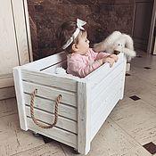 Ящики ручной работы. Ярмарка Мастеров - ручная работа Хранение вещей: деревянный ящик для игрушек или книг. Handmade.