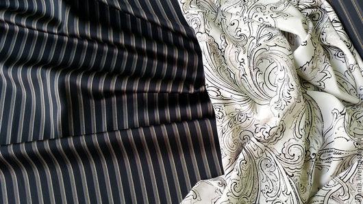 Шитье ручной работы. Ярмарка Мастеров - ручная работа. Купить Ткань костюмная. Handmade. Шелк, ткань для одежды, италия, жаккард