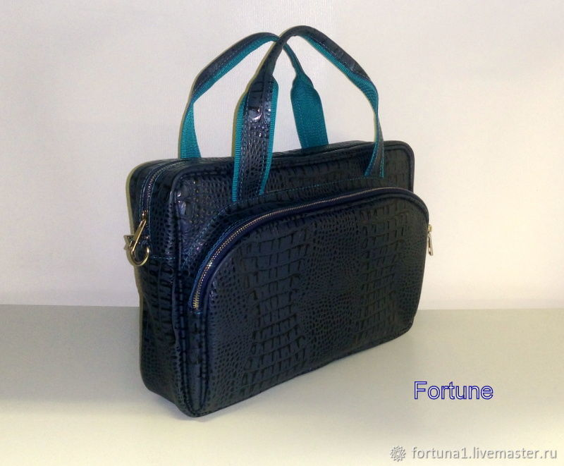 Bag leather ' the Blue reptile', Bags, St. Petersburg, Фото №1