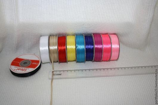 Шитье ручной работы. Ярмарка Мастеров - ручная работа. Купить Лента атласная 3 мм разные цвета. Handmade. Разноцветный