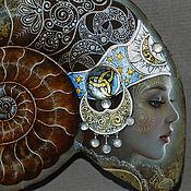 """Картины и панно ручной работы. Ярмарка Мастеров - ручная работа Аммонит """"Лунный Свет"""". Handmade."""