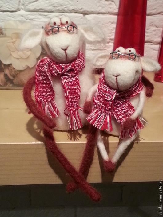 Игрушки животные, ручной работы. Ярмарка Мастеров - ручная работа. Купить овечки. Handmade. Белый, валяная игрушка