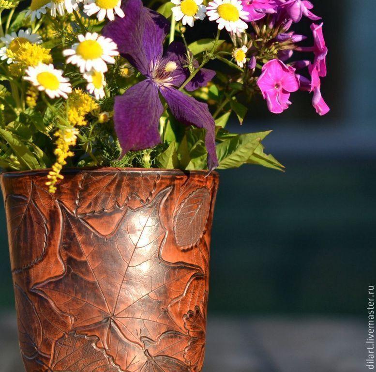 Ваза керамическая для цветов Лесная быль, Вазы, Москва,  Фото №1