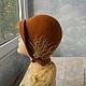 """Шляпы ручной работы. Заказать шляпка """"Корица"""". ZIMa    (Ирина)          FeltHouse. Ярмарка Мастеров. Шляпка валяная, корица, ретро шляпа"""