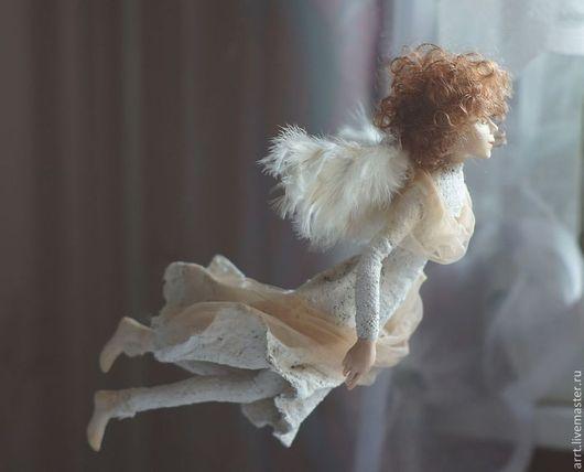 Коллекционные куклы ручной работы. Ярмарка Мастеров - ручная работа. Купить Кукла Ангел летящий. Handmade. Белый, ангел кукла