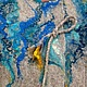 """Пиджаки, жакеты ручной работы. Жакет """"Павлинья руда"""". Karataeva Irina. Интернет-магазин Ярмарка Мастеров. Цветочный, бирюзовый, оранжевый"""