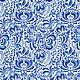 Гжель №5 бело-синяя