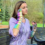 """валяный свитерок """"Lilac spring"""""""