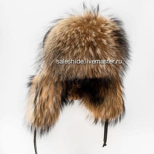 Шапки ручной работы. Ярмарка Мастеров - ручная работа. Купить Женская шапка-ушанка из натурального меха енота. Handmade.