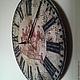 """Часы для дома ручной работы. Ярмарка Мастеров - ручная работа. Купить Часы настенные 30 см деревянные """"Бон Вояж"""" W0316. Handmade."""