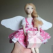 Куклы и игрушки ручной работы. Ярмарка Мастеров - ручная работа Ангелина - текстильная кукла-подвеска. Handmade.