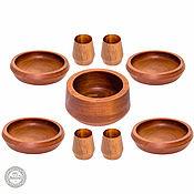 Набор деревянной посуды (9 предметов) Сибирская сосна из Дерева #TN27