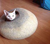 Для домашних животных, ручной работы. Ярмарка Мастеров - ручная работа Кошкин Дом Тыквенный внутри. Handmade.