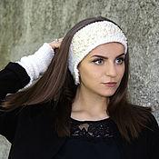 """Повязки ручной работы. Ярмарка Мастеров - ручная работа Повязка на голову и манжеты в стиле """"Шанель"""". Handmade."""