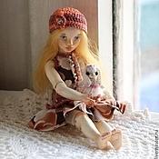 Куклы и игрушки ручной работы. Ярмарка Мастеров - ручная работа Симочка (шарнирная куколка).. Handmade.