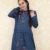 Одежда handmade. Livemaster - original item dress Snegiri. Handmade.