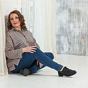 Одежда ручной работы. Ярмарка Мастеров - ручная работа Рубашка в мужском стиле оверсайз лен полоска. Handmade.
