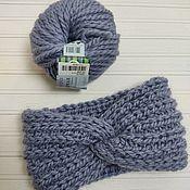 Аксессуары handmade. Livemaster - original item Knitted headband/turban on the head. Handmade.