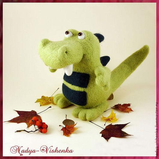 Игрушки животные, ручной работы. Ярмарка Мастеров - ручная работа. Купить Крокодильчик Дракоша (игрушка из войлока, игрушка валяная) игрушка. Handmade.