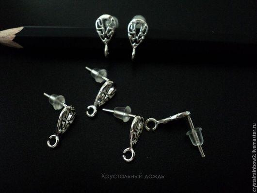 Для украшений ручной работы. Ярмарка Мастеров - ручная работа. Купить Пуссеты из серебра 925 пр, арт С413. Handmade.