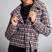 """Одежда ручной работы. Ярмарка Мастеров - ручная работа Куртка-пальто """"Сиреневый твид"""" с отстегивающимися рукавами 1561. Handmade."""