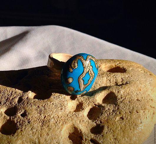 Кольцо талисман  Кольцо из Муранского стекла Кольцо лэмпворк