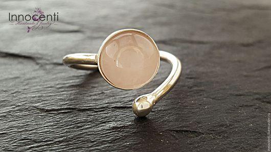 """Кольца ручной работы. Ярмарка Мастеров - ручная работа. Купить Кольцо  розовый кварц """"Романтика и Нежность"""". Handmade. Кольцо с камнем"""