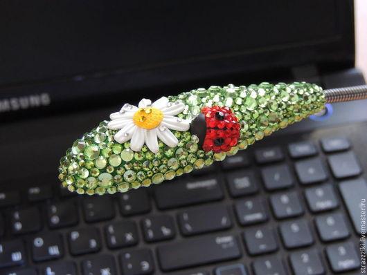 Освещение ручной работы. Ярмарка Мастеров - ручная работа. Купить Фонарик для ноутбука, USB. Handmade. Usb, фонарь, свет, инкрустированный