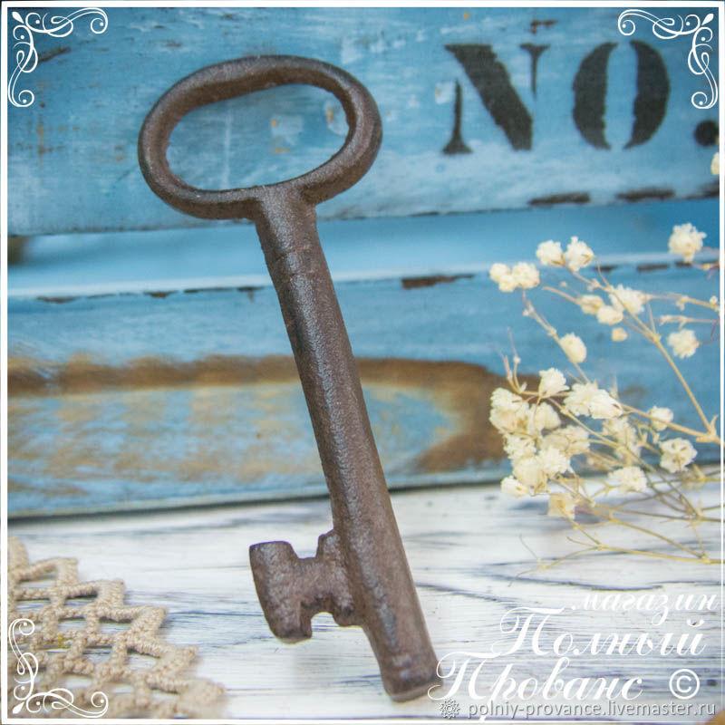 Винтаж: Ключ декоративный 10см под старину, чугун 125654, Ключницы, Астрахань, Фото №1