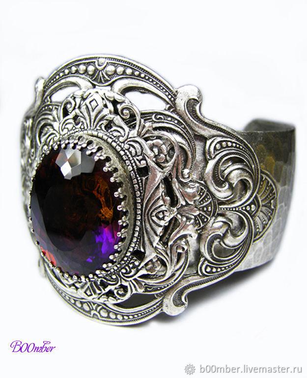 Bracelets Handmade Livemaster Vintage Style Ametrine Bracelet Byzantium