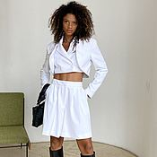 Одежда handmade. Livemaster - original item Cropped jacket (white). Handmade.