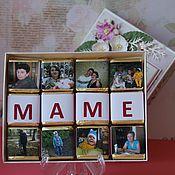 """Подарки к праздникам ручной работы. Ярмарка Мастеров - ручная работа Шоколад с фото """"Любимой мамочке"""". Handmade."""