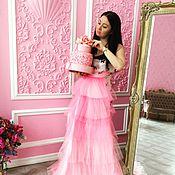 Одежда ручной работы. Ярмарка Мастеров - ручная работа Юбка-хвост на поясе Розовая мечта. Handmade.