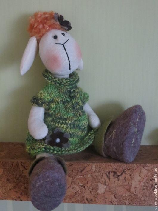 """Куклы Тильды ручной работы. Ярмарка Мастеров - ручная работа. Купить Тильда овечка """"Милашка Клава"""". Handmade. Разноцветный, хлопок"""