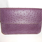 Сумки и аксессуары handmade. Livemaster - original item clutch evening genuine leather embossed ostrich. Handmade.