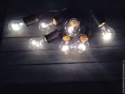 Освещение ручной работы. Ярмарка Мастеров - ручная работа. Купить Ретро-гирлянда из ламп накаливания. Handmade. Гирлянда, ретро