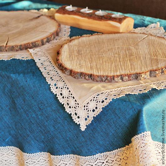 Текстиль, ковры ручной работы. Ярмарка Мастеров - ручная работа. Купить Скатерти из 100% льна на заказ. Handmade. Лен, текстиль