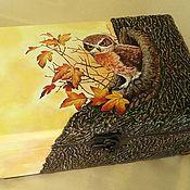Для дома и интерьера ручной работы. Ярмарка Мастеров - ручная работа шкатулка Сова. Handmade.