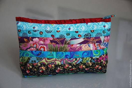 Женские сумки ручной работы. Ярмарка Мастеров - ручная работа. Купить яркие разноцветные  косметички. Handmade. Разноцветный, подарок женщине