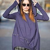 Одежда handmade. Livemaster - original item Purple Tunic, Elegant tunic, TU0421PM. Handmade.