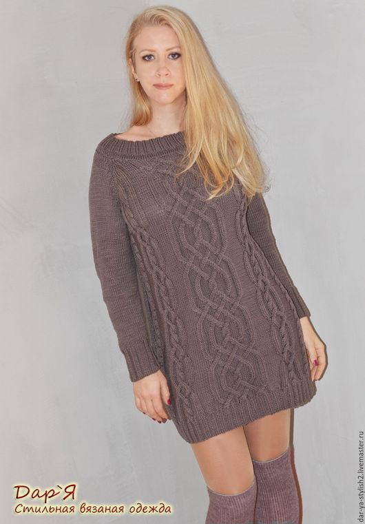 """Кофты и свитера ручной работы. Ярмарка Мастеров - ручная работа. Купить """"Антрацит"""" женский вязаный пуловер ручной работы. Handmade."""