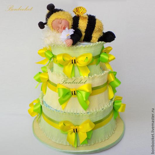 торт из памперсов, торт из подгузников
