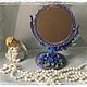 """Зеркала ручной работы. Ярмарка Мастеров - ручная работа. Купить Зеркало """"Гляжусь в тебя"""". Handmade. Тёмно-фиолетовый, настольный сувенир"""