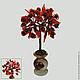 Дерево счастья из шунгита в вазочке из оникса