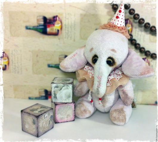 Мишки Тедди ручной работы. Ярмарка Мастеров - ручная работа. Купить Бим. Handmade. Розовый, слоник, игрушка, хлопок