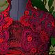 Болеро, шраг ручной работы. Красное кружевное болеро для девочки. Ольга Степанец (OlgaStepanets). Ярмарка Мастеров. Болеро