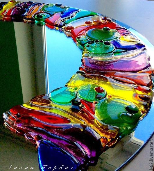 Зеркала ручной работы. Ярмарка Мастеров - ручная работа. Купить зеркало, стекло, фьюзинг РАЙ. Handmade. Разноцветный, зеркало настенное